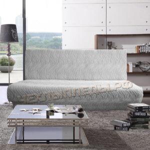 """""""Жаккард Волна"""" Серый на 3-ех местн. диван без подлокот."""