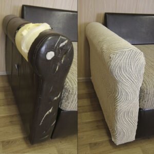"Чехол на подлокотник дивана/кресла ""Жаккард Волна"" Серый"