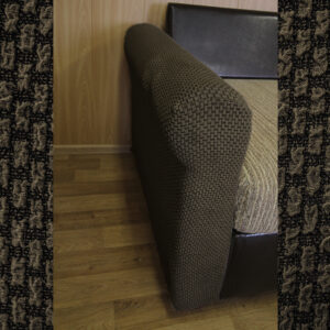 "Чехол на подлокотник дивана/кресла ""Жаккард Рогожка"" Шоколад"