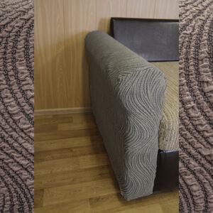 "Чехол на подлокотник дивана/кресла ""Жаккард Волна"" Капучино"